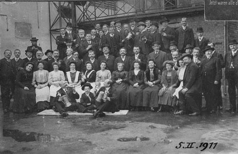 Schlachtschüsselgesellschaft des Kampgenossenvereins 1911