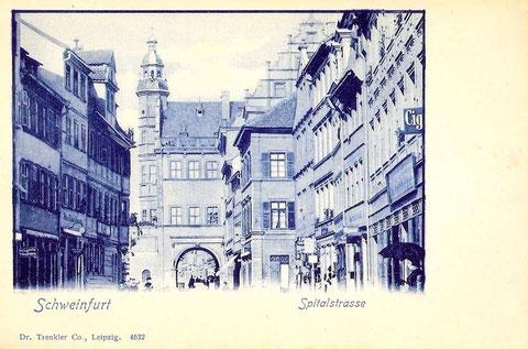 in den 1930ern - Spitalstraße Schweinfurt