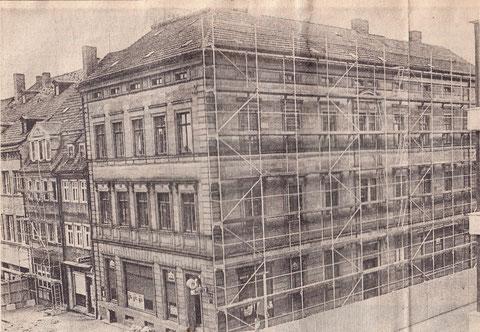 Oktober 1975 Ecke Zehntstraße/Marktplatz (Hansenhaus) - wurde kurze Zeit später abgerissen