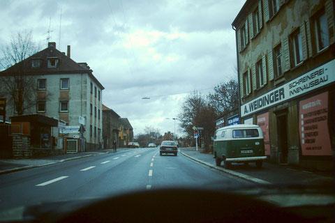 Niederwerrner Str. vor Obertor 1979 Foto: Rudolf Steiche