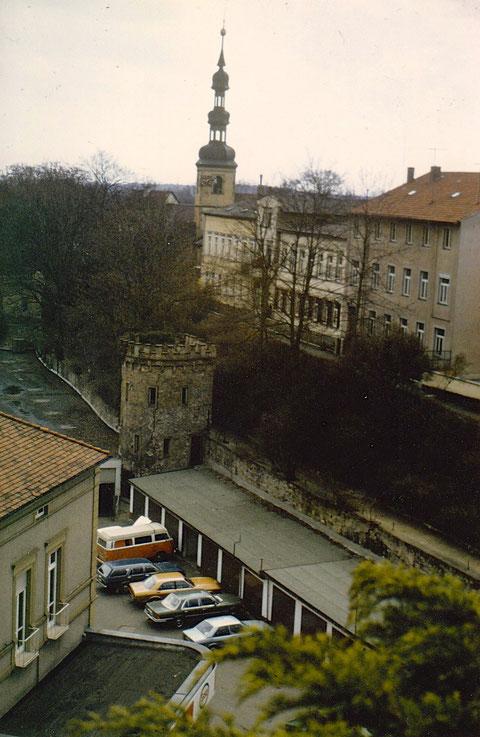 Unterer Wall mit Ring-Garagen 1985