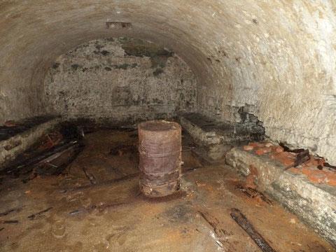 Der hintere Teil des Kellers
