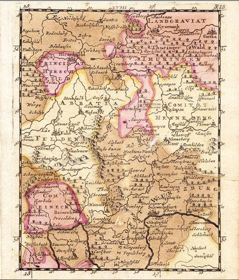 Schweinfurt und die nördliche Umgebung im Jahre 1706