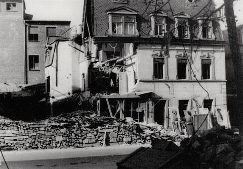 Schultesstraße 8 am 14.10. 1943 nach einem Bombenangriff - Danke an Frau Christel Feyh