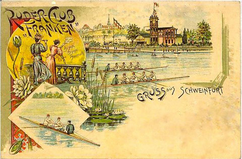 um 1898 - auf der gegenüberliegende Mainseite das damalige Vereinsheim
