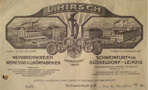 Likörfabrik Hirsch 1930