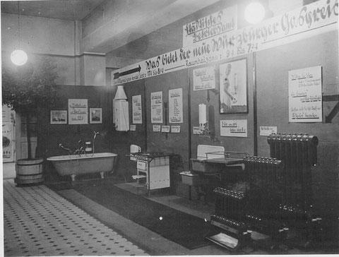 Ausstellung des Gaswerks in der Berufschule 1934