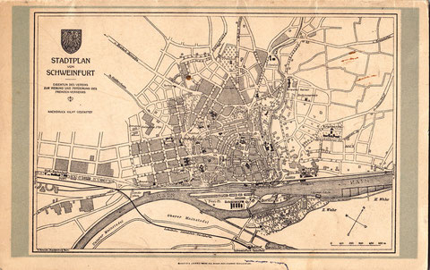 Plan der Stadt Schweinfurt Anfang der 1930er-Jahre - vergrößerbar