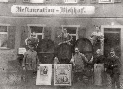 Hadergasse 31 (Gaststätte Viehhof) 1924 anlässlich Heimatschau