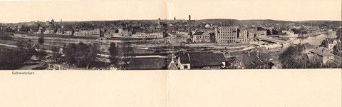 Panoramafoto - Schweinfurt vom Süden gesehen 1905 BITTE VERGRÖSSERN !!!