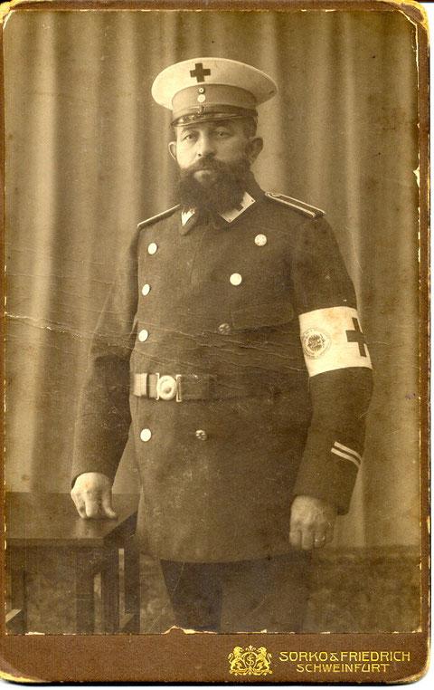 Gastwirt Otto Winter (1865 - 1923) , Führerstellvertreter, zuletzt Ehrenkolonnenführer bei der freiwilligen Sanitätskolonne vom Roten Kreuz, Schweinfurt
