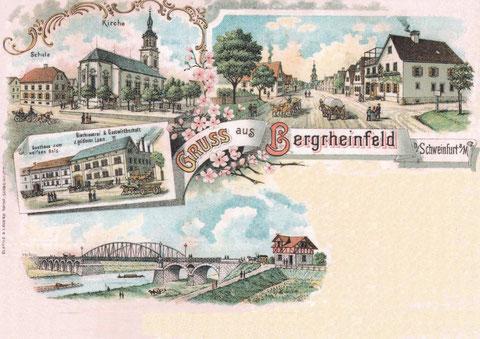 um 1900 - Variante mit Mainbrücke