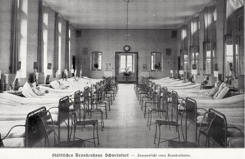 Der Krankensaal im Jahr 1901