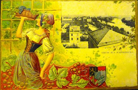 Um 1900 aus der Weinstadt Schweinfurt