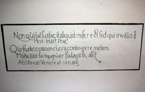 Inschrift im Eingangsbereich