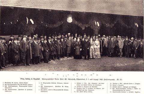 1904 - bitte vergrößern!!!! Schweinfurter Würdenträger mit Prinz Ludwig auf Bayerhof