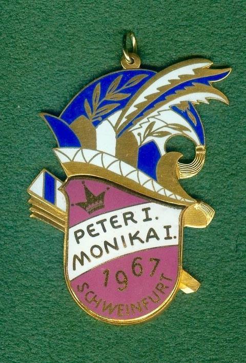 1967 Schweinfurt - Prinzenpaar Peter I. und Monika I.