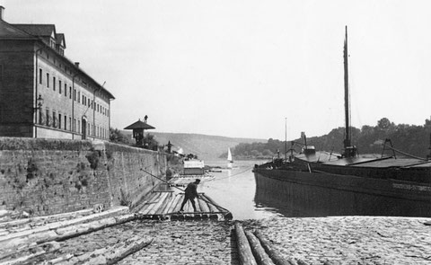 1939 . Flößer am Main - Danke an Holger Meyer