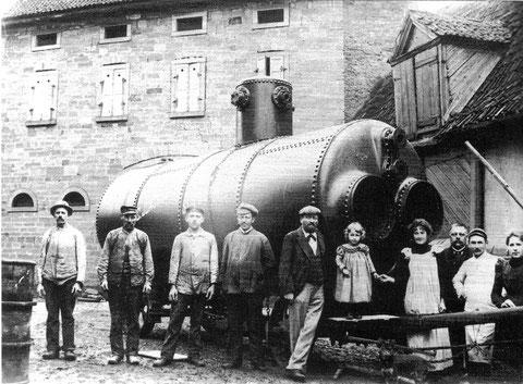 Fa. Gottlob Kraus, Seifen- u Lichterfabrik 1895, Lieferung eines neuen Dampfmaschinenkessels