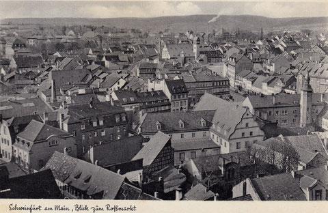 1930er - vorn auch die jüdische Synagoge