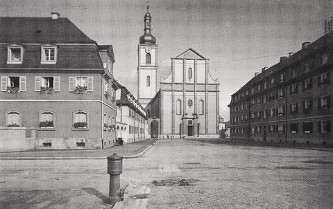Blick aus der St.-Kilian-Straße auf die alte Kilianskirche