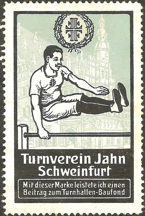 Werbemarke für den TV Jahn Turnverein Schweinfurt - gab's wohl für eine Spende...