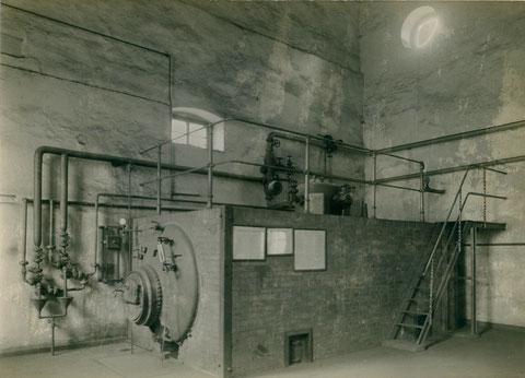 Erster Flammrohrkessel ca. 1910