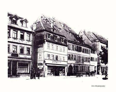 Marktplatz-Westseite um 1900