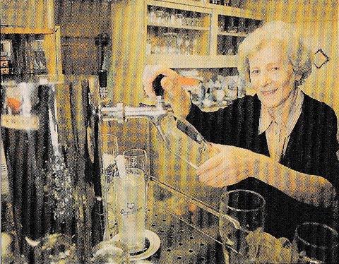 Frau Erna Witscher - Gastwirtin im Gambrinus seit 1954