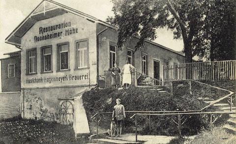 Die Wirtschaft Gochsheimer Höhe 1933 mit der damaligen Pächterfamilie Eduard Markert