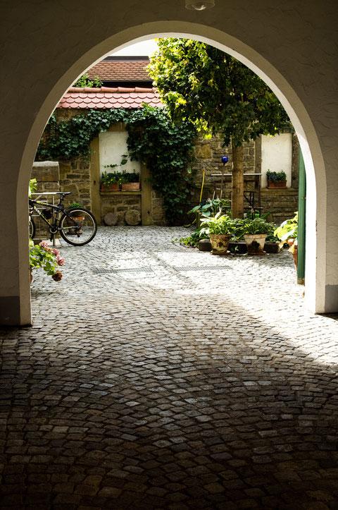 Schweinfurter Altstadthinterhof in der Judengasse