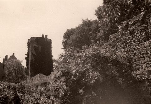 Stadtmauer ggü dem Landgericht (heute Kaufhof und Parkhaus)