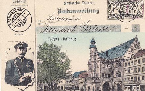 Originelle Grußkarte um 1900