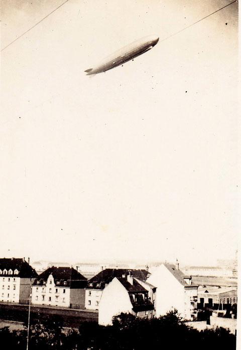 Zeppelin über Schweinfurt 1934