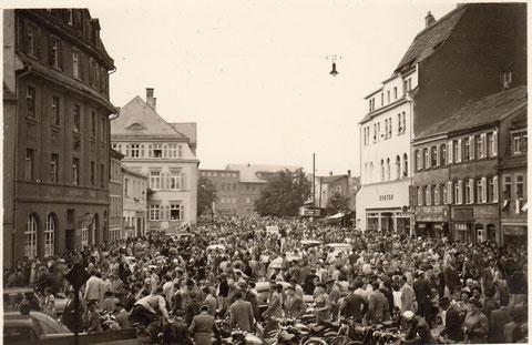 1955 Blick vom Kornmarkt zum Obertor - Danke an Hilde Müller