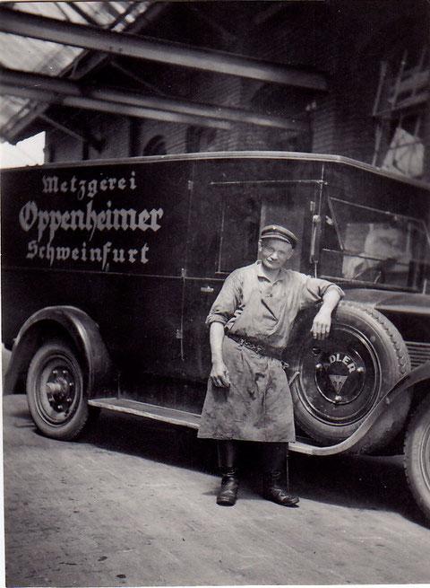 Metgerei Oppenheimer in der Bauerngasse 12 in den 1930ern