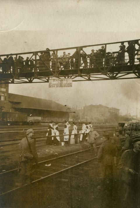 1918 - Verwundete werden nach Gerolzhofen verbracht