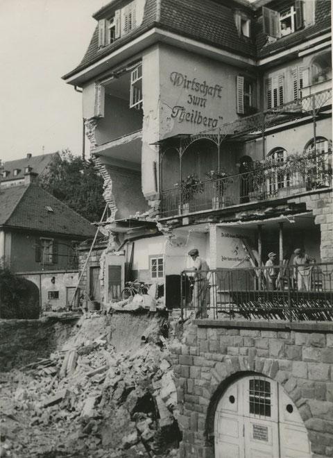 Hauseinsturz der Gastwirtschaft zum Theilberg August 1951