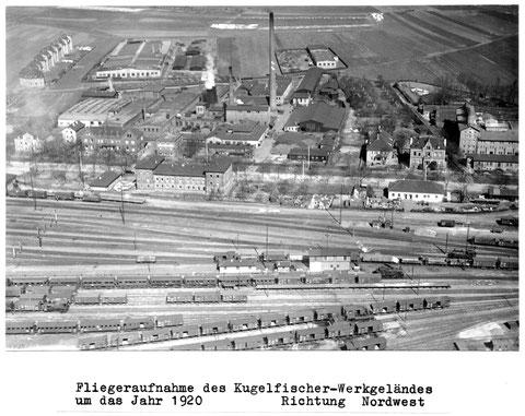 Werksgelände mit Werkswohnungen an der Kreuzstraße 1920