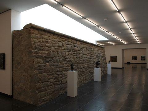 Alte Schanze im Untergeschoss der Kunsthalle