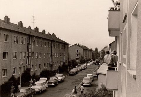 Brand in der Gleiwitzer Straße im August 1965 - eine Frau sprang aus einem Fenster