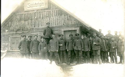Königlich Bayerisches Landsturm-Infanterie-Bataillon Schweinfurt (II. B. 19); Russland, Winter 1918, Soldatenheim in der ......