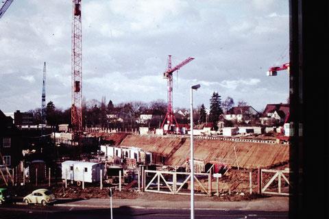 September 1974 - Baustelle Leopoldina-Krankenhaus - Danke an Christel Feyh - Foto Helmut Feyh