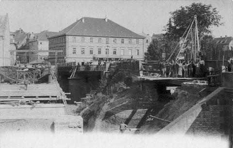 Probleme mit der Maxbrücke 1900