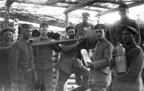 Russland, Juni 1917, mit 15cm Geschütz, Bat. Schweinfurt