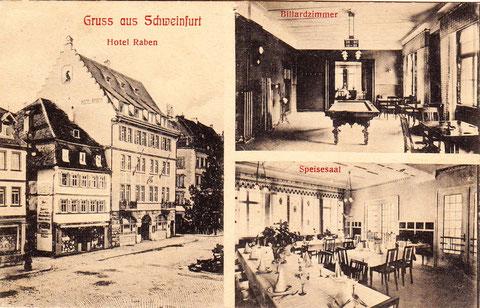 Das berühmte Hotel Zum Raben am Marktplatz - vergrößerbar
