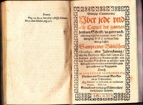 weiterer Titel in Biblische Summarien - gedruckt in Schweinfurt