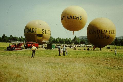 Ballonstart am heutigen Volksfestplatz 1959