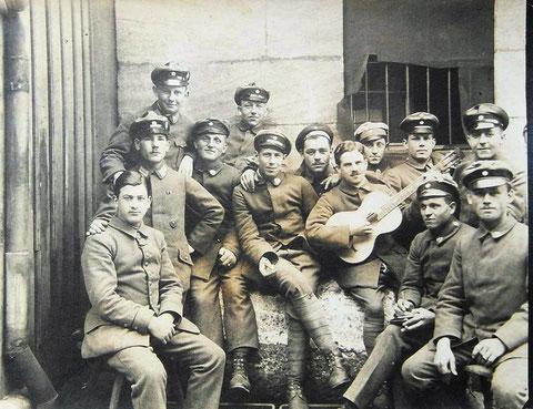 Mitglieder der Schweinfurter Bürgerwehr während des Ersten Weltkriegs