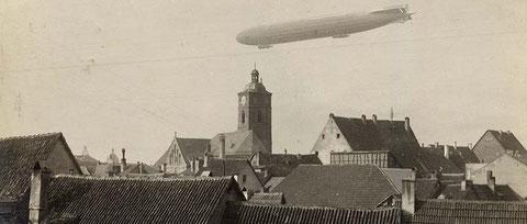 Luftschiff über Schweinfurt am 6.  November 1915